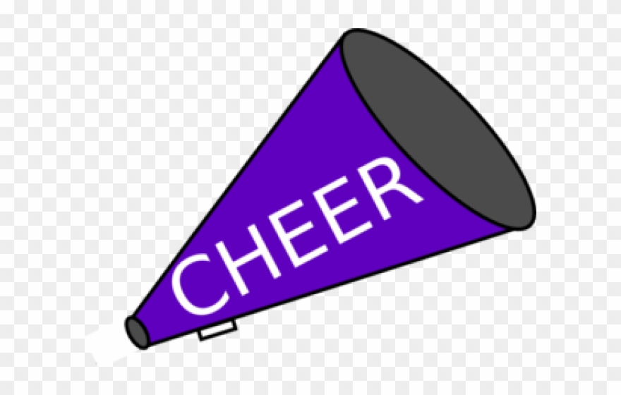 Purple cheerleader clipart graphic Cheerleader Clipart Megaphone - Purple And Gold Cheerleader ... graphic