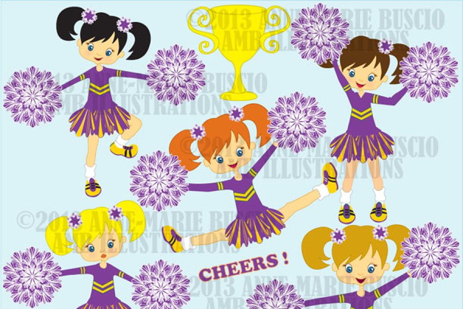 Purple cheerleader clipart picture library download Purple cheerleaders clipart picture library download