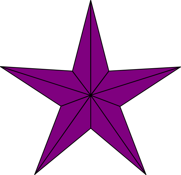 Purple star clipart jpg freeuse Purple Lined Star Clip Art at Clker.com - vector clip art online ... jpg freeuse