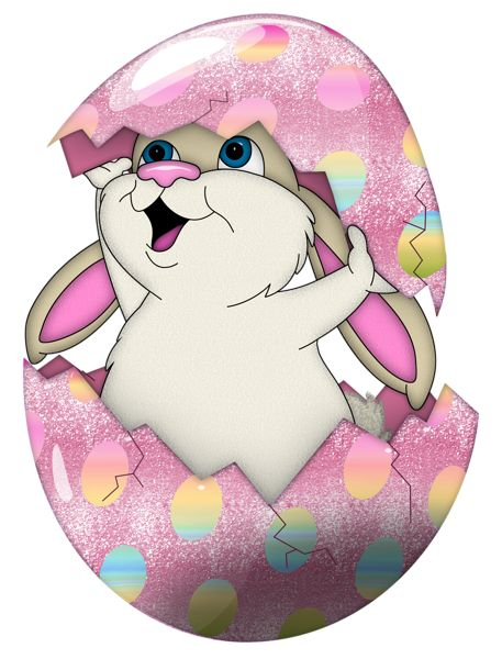 Purple easter basket clipart graphic library library Easter Cute Bunny in Egg Transparent PNG Clipart | Imágenes ... graphic library library