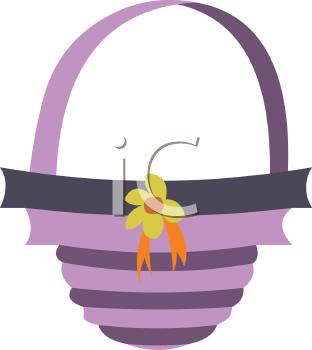 Purple easter basket clipart png transparent Purple Easter Basket - Royalty Free Clip Art Illustration png transparent