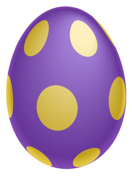 Purple easter egg clipart image freeuse library Purple with yellow dotted Easter Egg clipart | My EASTER Clipart ... image freeuse library