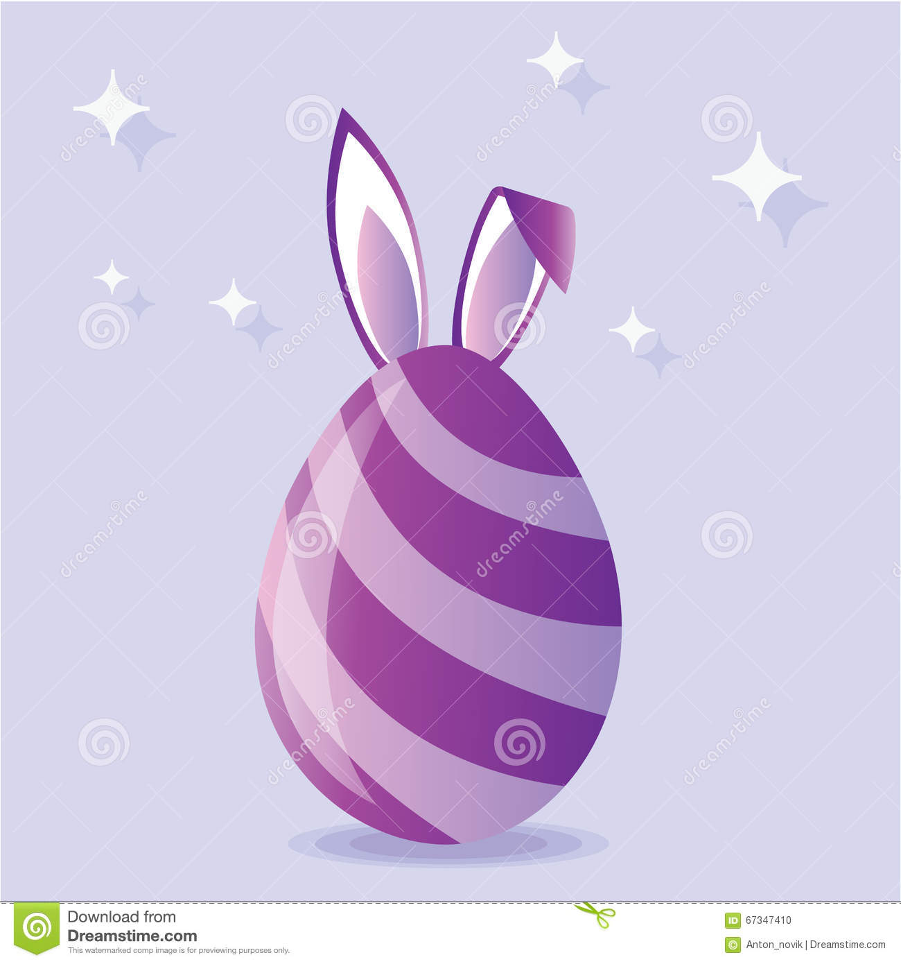 Purple easter egg clipart vector download Purple Easter Egg With Bunny Ears Vector Stock Vector - Image ... vector download