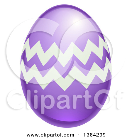 Purple easter egg clipart graphic black and white library Clipart of a 3d Purple Easter Egg with Zig Zags - Royalty Free ... graphic black and white library