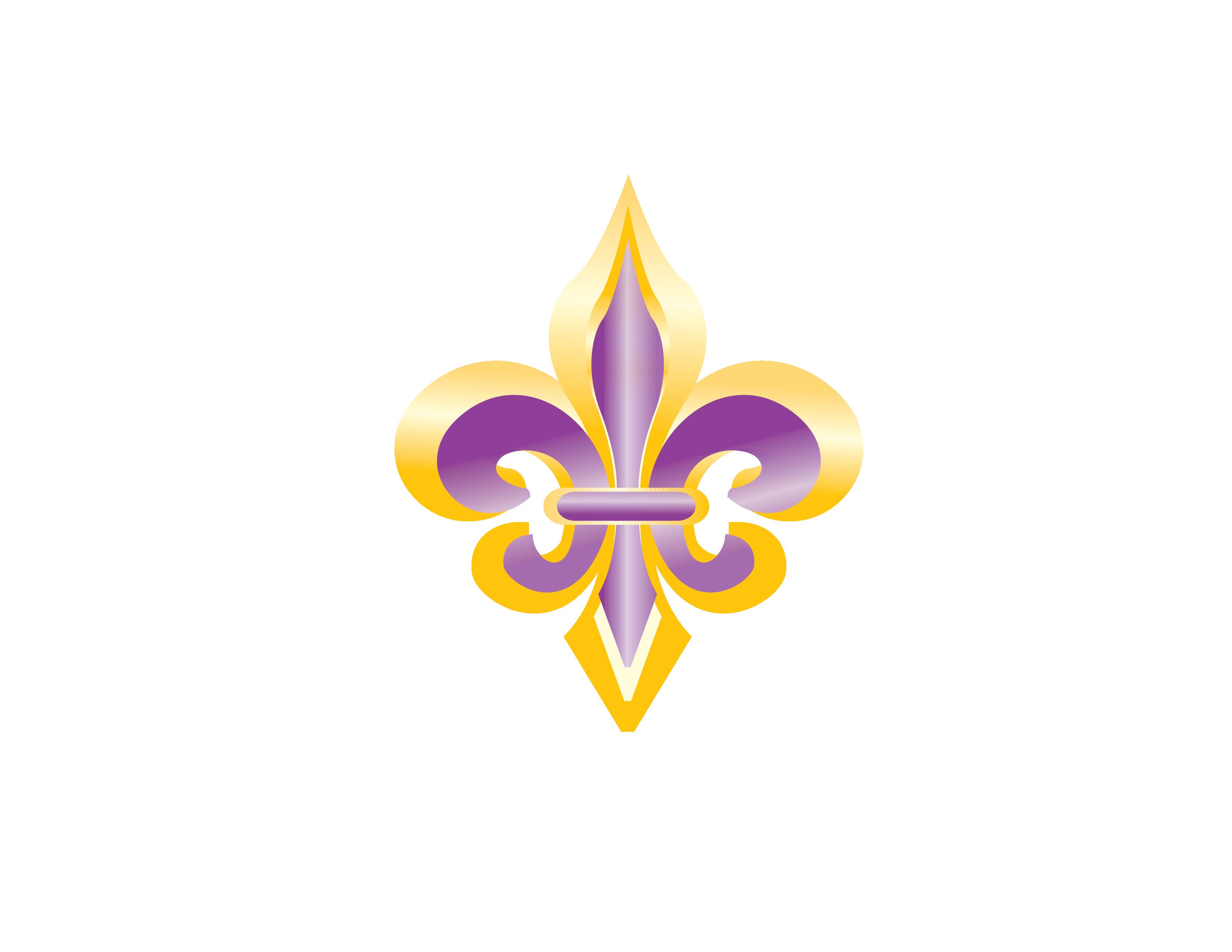 Purple fleur de lis clipart jpg transparent stock Purple and Gold Fleur de Lis Clip Art - New Orleans Free ... jpg transparent stock