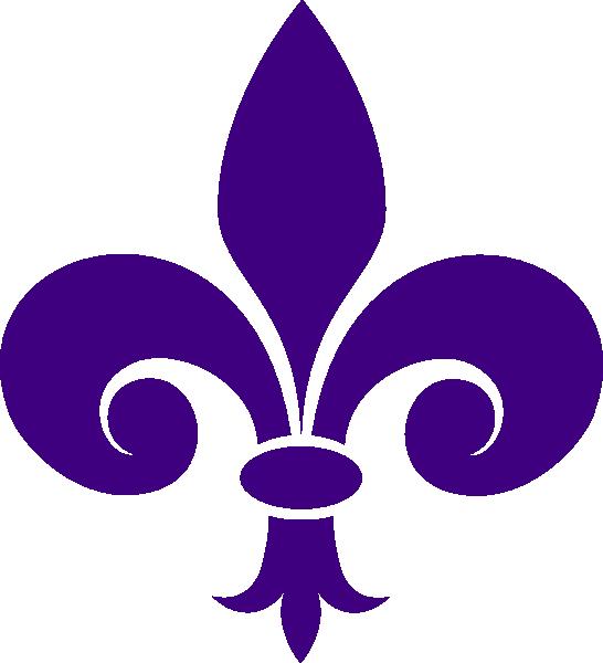 Purple fleur de lis clipart vector transparent stock Fleur De Lis Clip Art at Clker.com - vector clip art online ... vector transparent stock