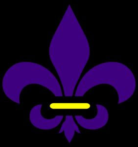 Purple fleur de lis clipart clip art free download Gold And Purple Fleur De Lis Clip Art at Clker.com - vector ... clip art free download