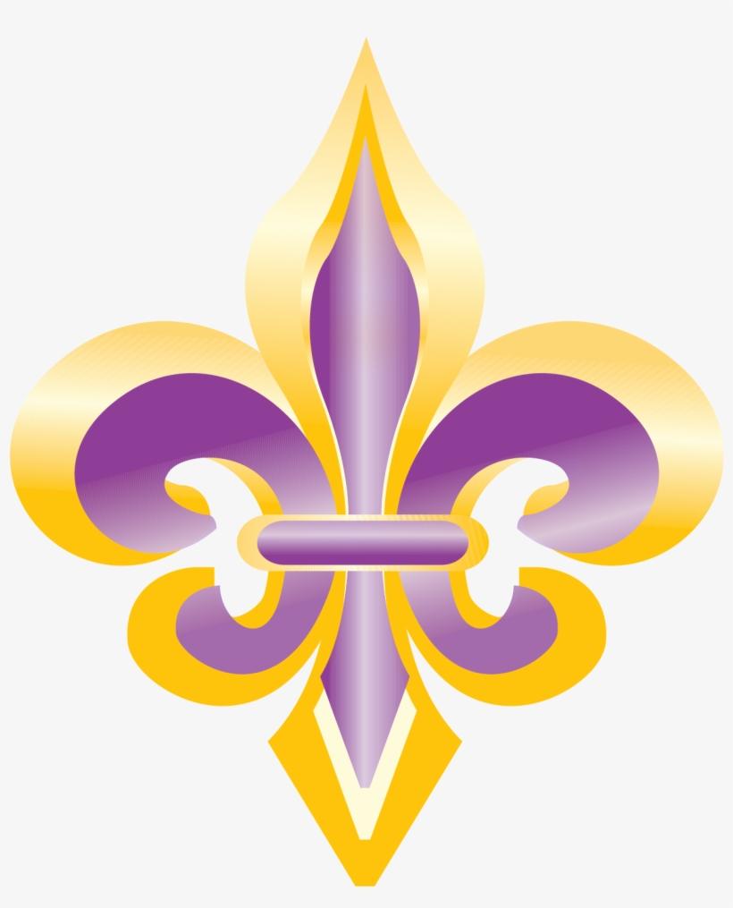 Purple fleur de lis clipart graphic freeuse download Purple And Gold Fleur De Lis Clip Art - Fleur De Lis #3 ... graphic freeuse download