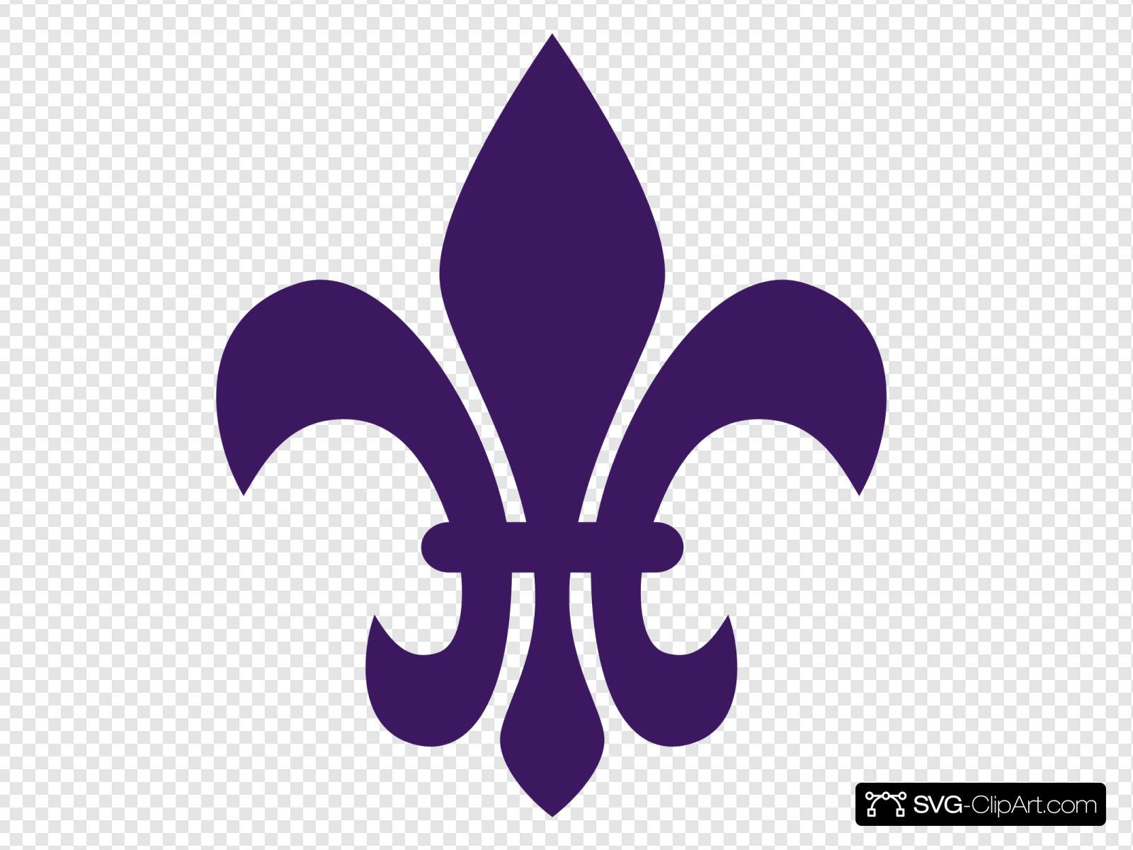 Purple fleur de lis clipart picture free stock Purple Fleur De Lis Clip art, Icon and SVG - SVG Clipart picture free stock