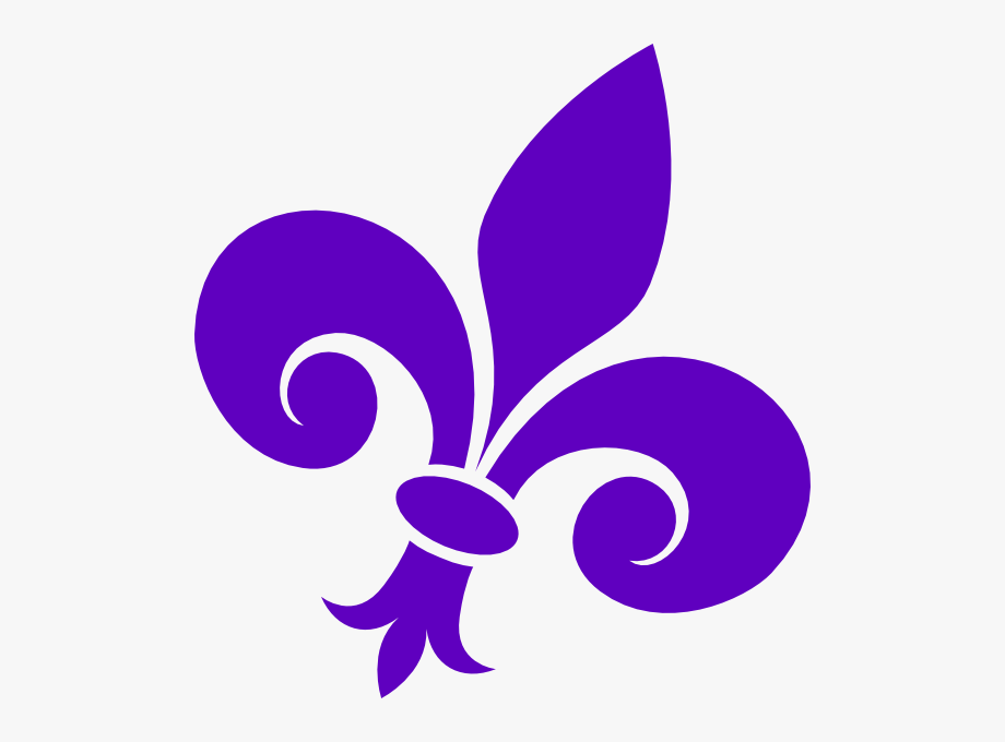 Purple fleur de lis clipart banner free Purple Fleur De Lis On Angle Clip Art At Clker - Fleur De ... banner free