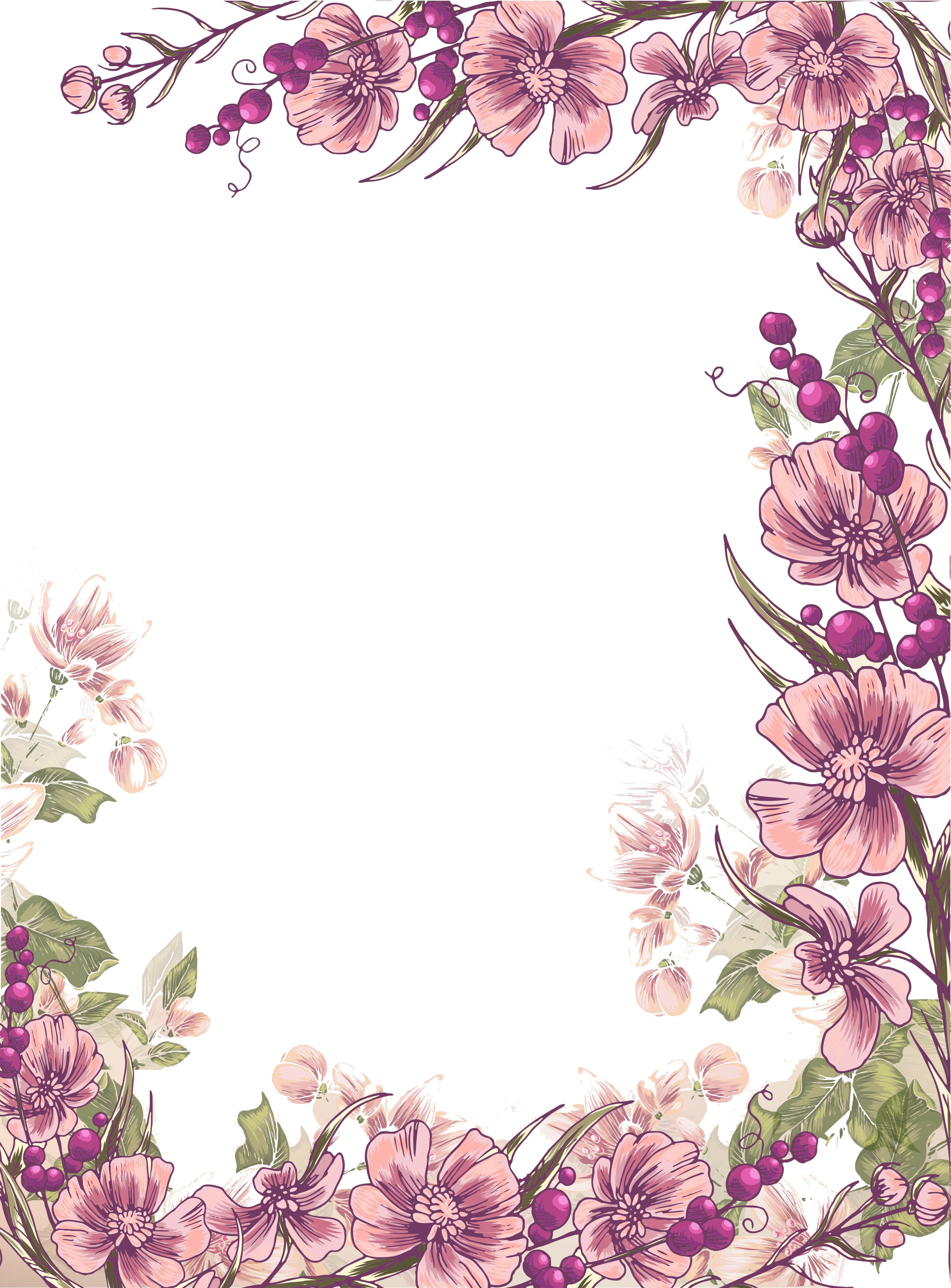 Purple flower border clipart free clipart transparent stock Flower Floral design Euclidean vector Illustration - Ink purple ... clipart transparent stock