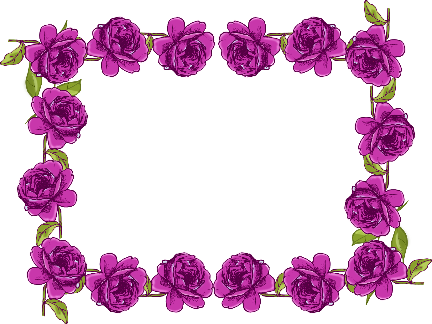 Purple flower border clipart free svg transparent library Purple Flower Border Free Download Clip Art - carwad.net svg transparent library