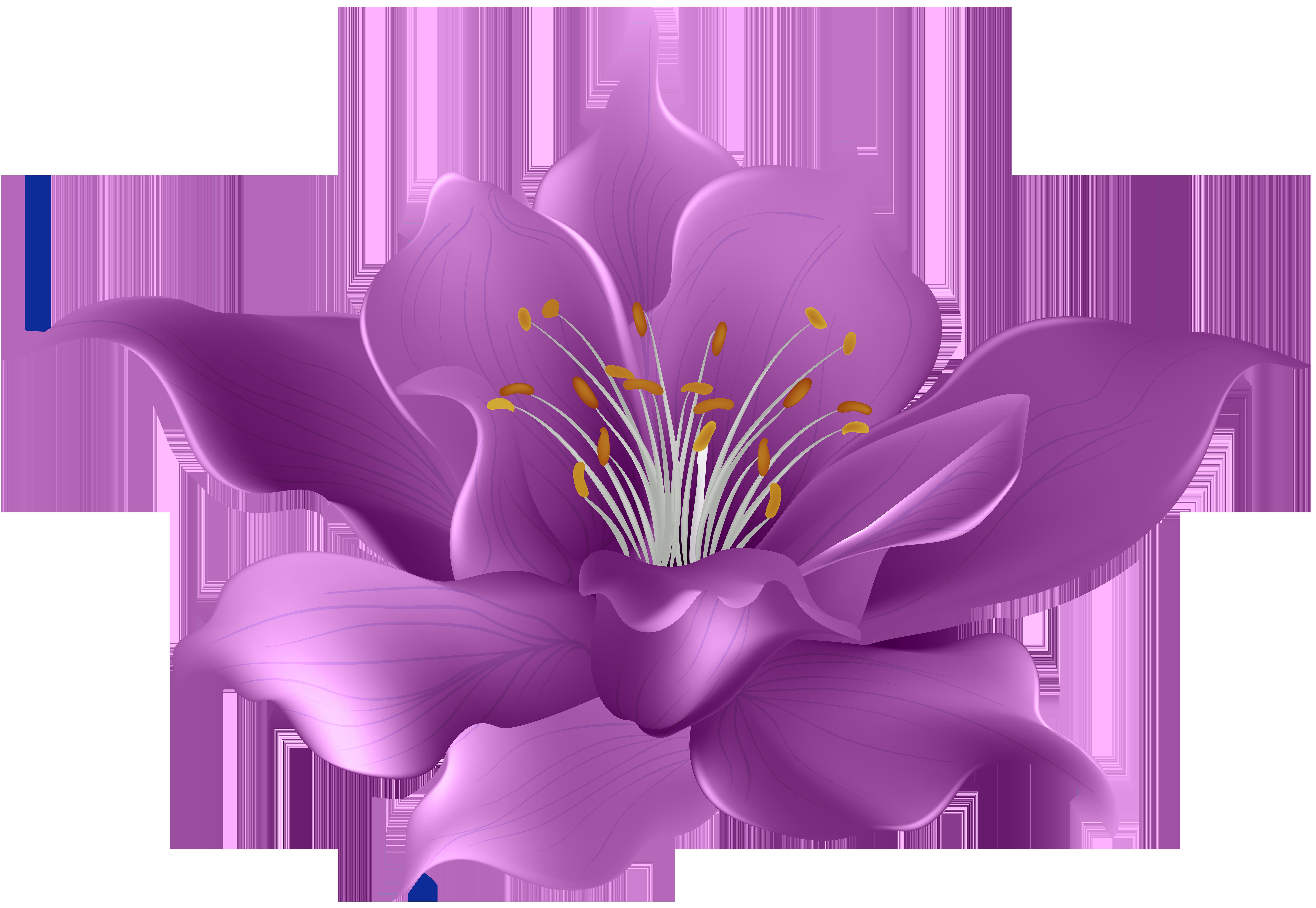 Purple flower clipart png image black and white library Purple Flower Transparent Clip Art Image   Gallery Yopriceville ... image black and white library