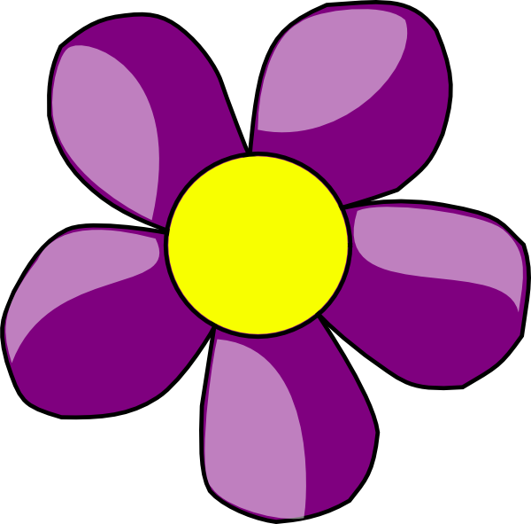 Purple flower clipart png banner freeuse library Purple Flower Clip Art at Clker.com - vector clip art online ... banner freeuse library