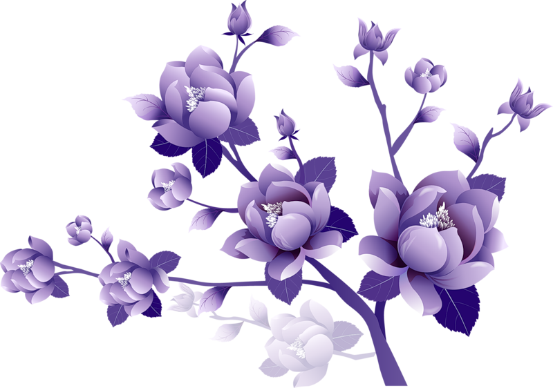 Purple flower border clipart free image black and white stock Purple Flowers Clipart & Purple Flowers Clip Art Images ... image black and white stock