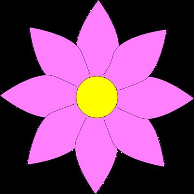 Purple flowers clip art image transparent download Purple Flower Clipart - Clipart Kid image transparent download