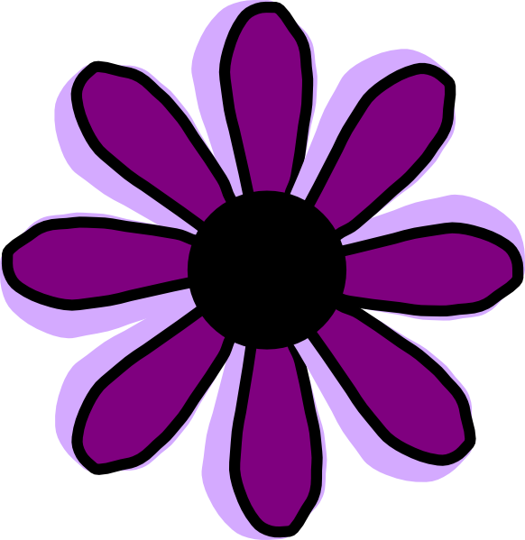 Purple flowers clip art graphic library library Pink And Purple Flower Clipart - Clipart Kid graphic library library