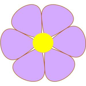 Purple flowers clip art vector royalty free stock Purple flower clip art - ClipartFest vector royalty free stock