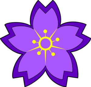 Purple flowers clip art image library library Purple flower clip art - ClipartFest image library library