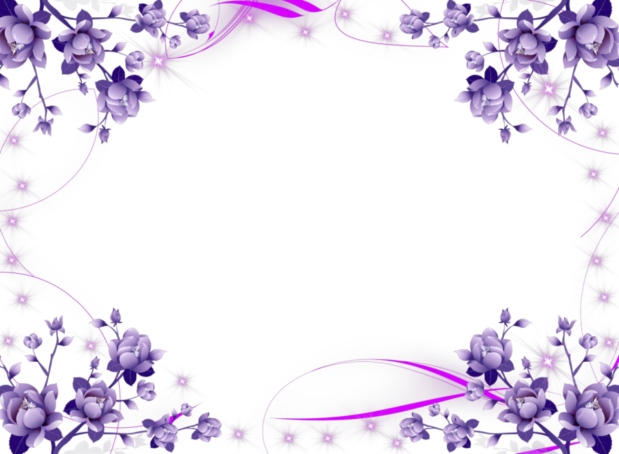 Purple flowers clipart border clip art free download Blue Flower Borders And Frames clipart - Purple, Flower ... clip art free download
