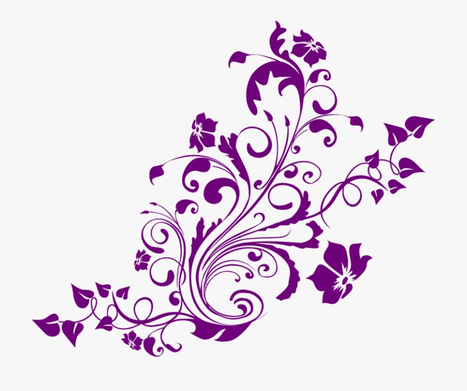 Purple flowers clipart border clip art royalty free download Purple Flowers Clipart Border Purple - Floral Pattern ... clip art royalty free download