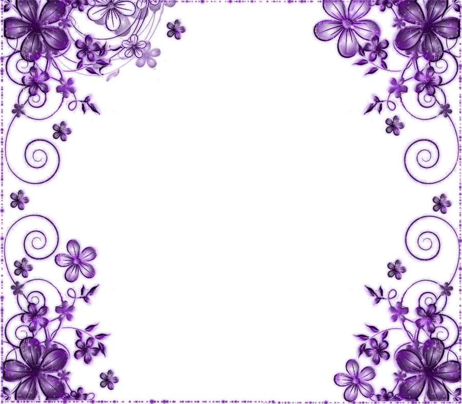 Purple flowers clipart border clip freeuse stock Pink Flower Border clipart - Lavender, Flower, Purple ... clip freeuse stock