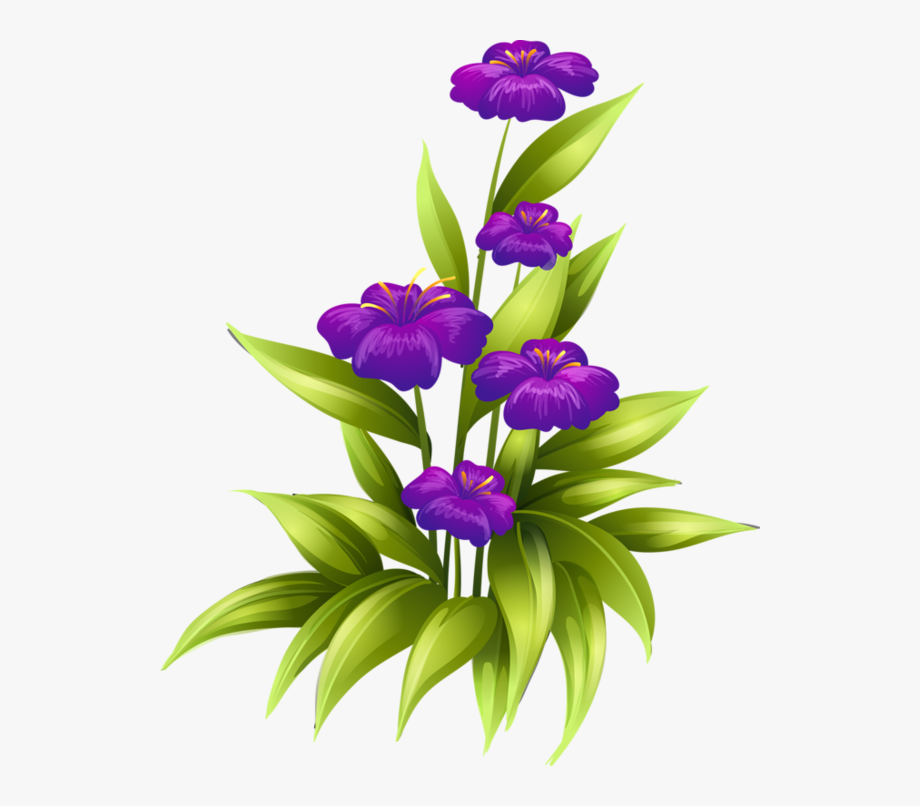 Purple flowers clipart border black and white download 2b%252827%2529 Flower Images, Flower Art, Exotic - Purple ... black and white download