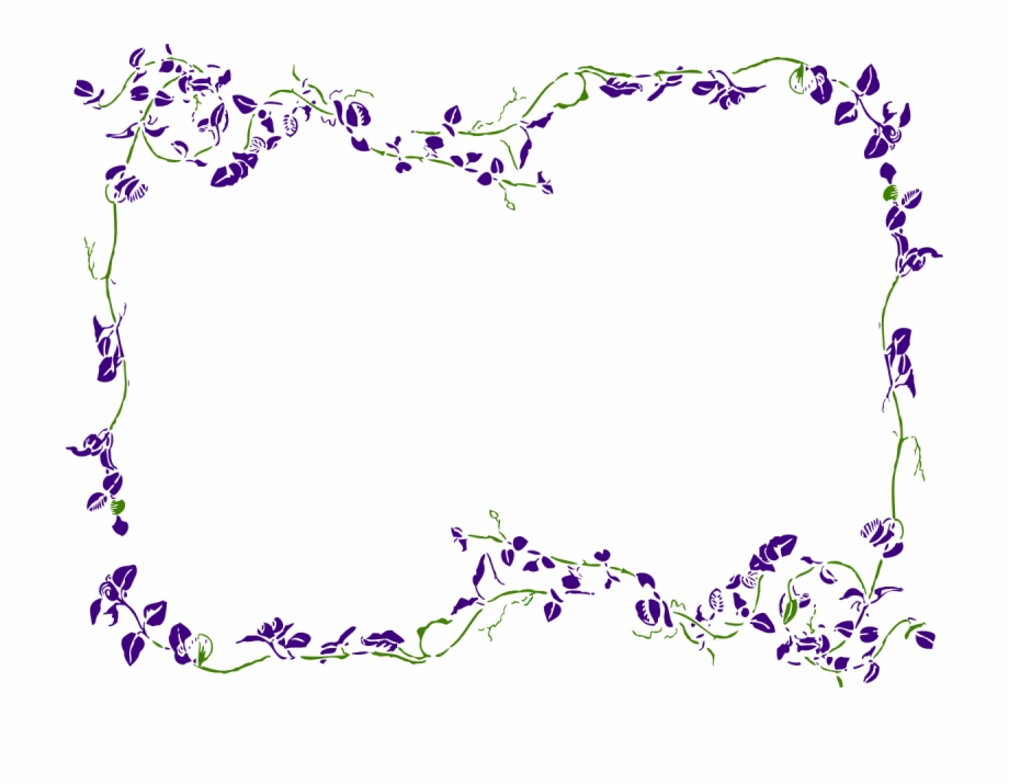 Purple flowers clipart border graphic free download Purple Floral Border Clipart - Purple Flower Border ... graphic free download