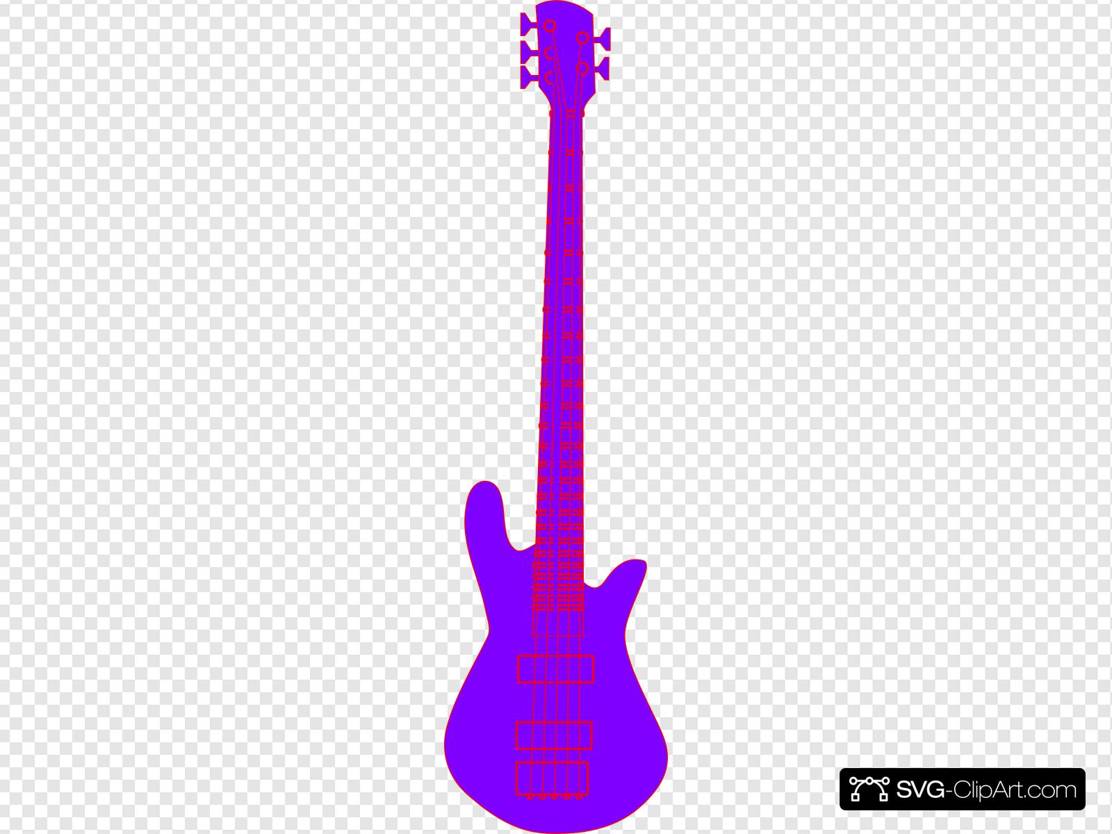 Purple guitar clipart jpg royalty free library Purple Guitar Clip art, Icon and SVG - SVG Clipart jpg royalty free library
