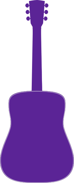 Purple guitar clipart vector library download Guitar, Purple Clip Art at Clker.com - vector clip art ... vector library download