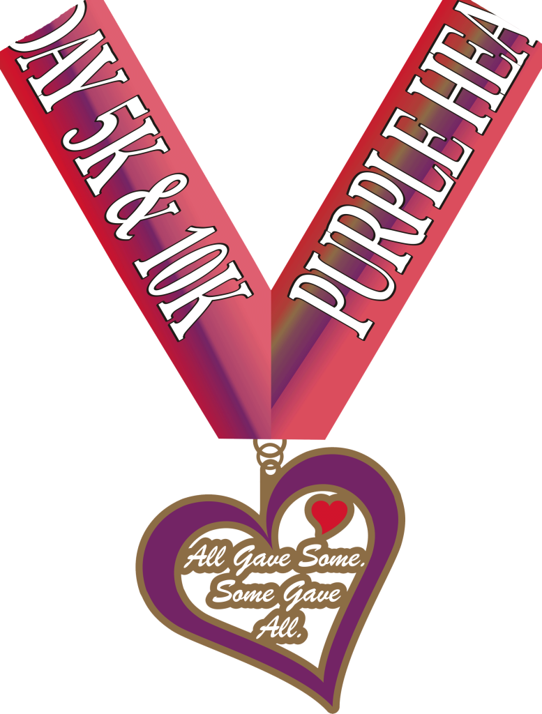 Purple heart medal clipart svg library stock Purple Heart Day 5K & 10K svg library stock
