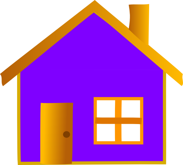 Purple house clipart freeuse stock Home Clip Art at Clker.com - vector clip art online, royalty free ... freeuse stock