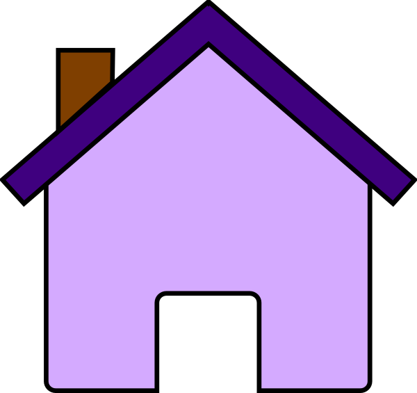 Purple house clipart jpg black and white stock Purple House Clip Art at Clker.com - vector clip art online, royalty ... jpg black and white stock