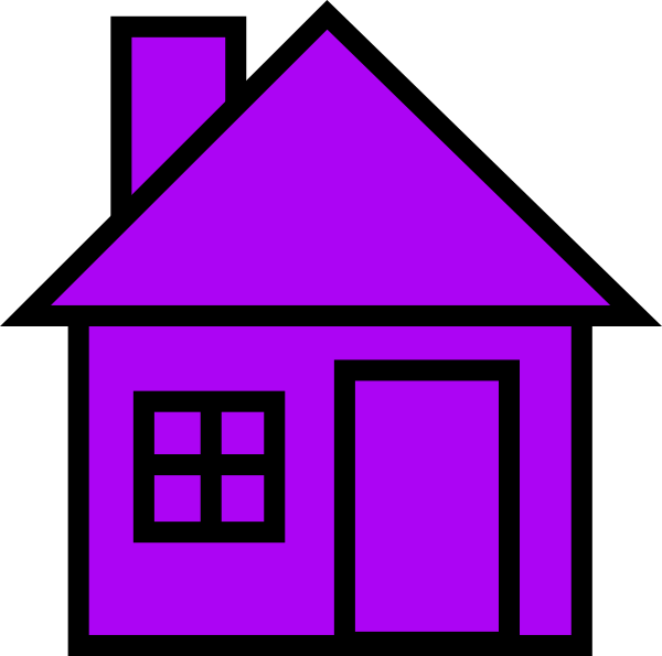 Purple house clipart png freeuse stock Purple House Clip Art at Clker.com - vector clip art online, royalty ... png freeuse stock