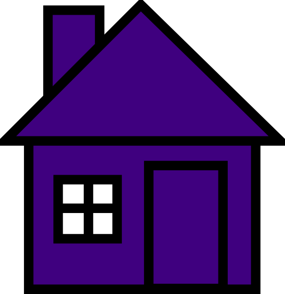 Purple house clipart vector free stock Very Purple House Clip Art at Clker.com - vector clip art online ... vector free stock