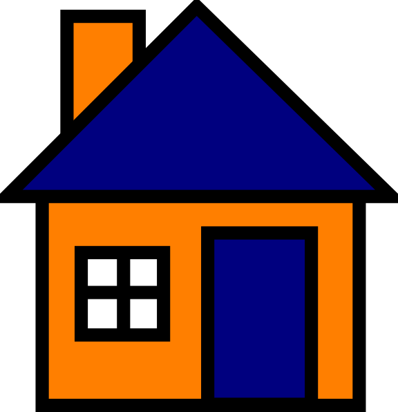 Purple house clipart jpg library library Orange And Blue House Clip Art at Clker.com - vector clip art online ... jpg library library