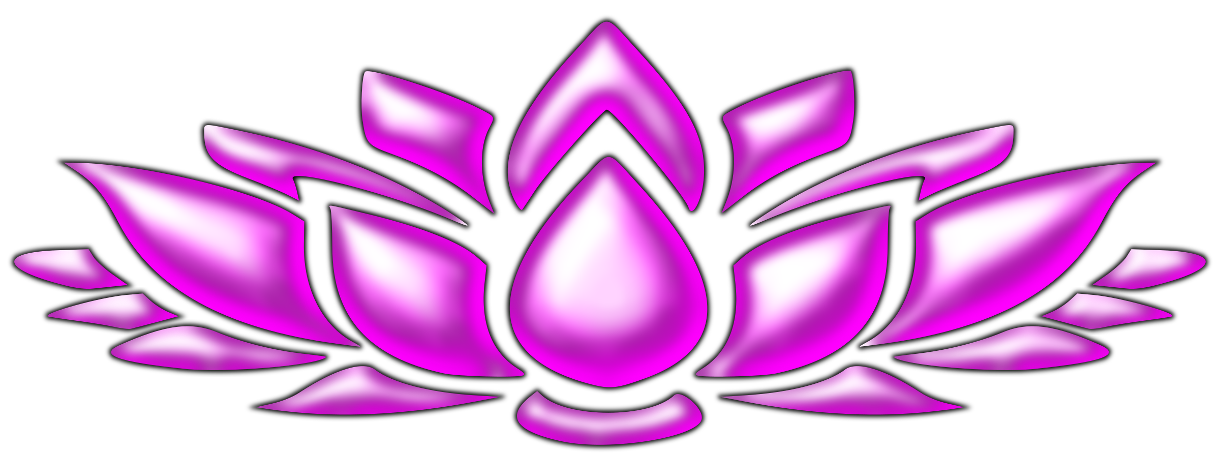Purple lotus flower clipart vector black and white Lotus flower 4 Icons PNG - Free PNG and Icons Downloads vector black and white