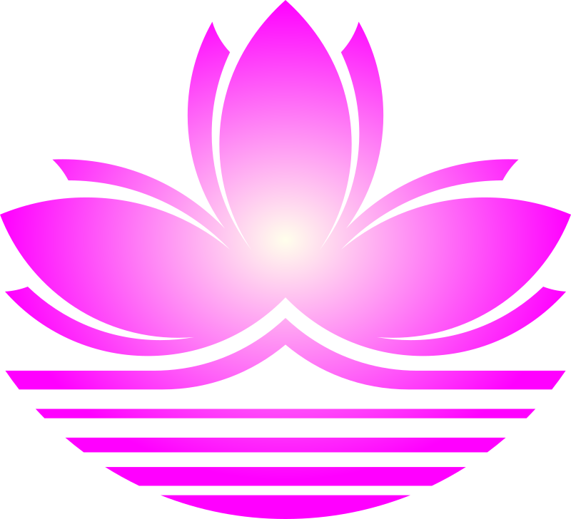 Purple lotus flower clipart clipart black and white Clipart - Lotus flower clipart black and white