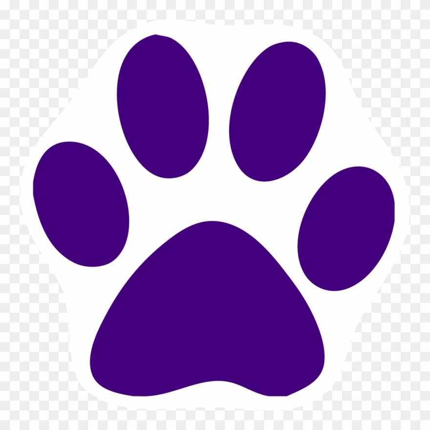 Purple paw print clipart