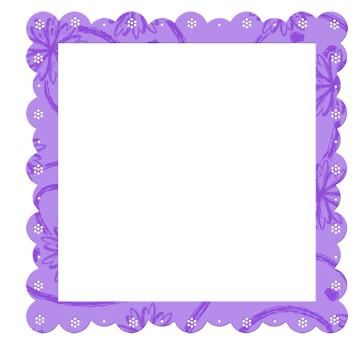 Purple picture frame clipart jpg library library Purple Transparent Frame with Flowers Elements | Gallery ... jpg library library
