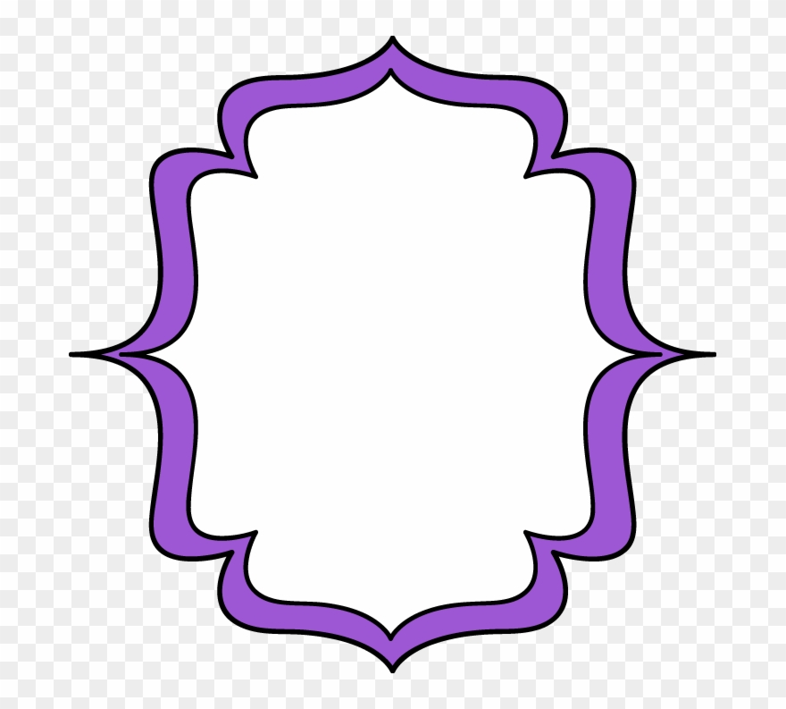 Purple picture frame clipart jpg royalty free Purple Double Bracket Frame - Pink Bracket Frame Png Clipart ... jpg royalty free