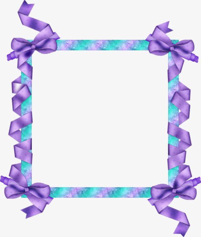 Purple ribbon border clipart vector transparent library Purple Ribbon Border PNG, Clipart, Border Clipart, Colored ... vector transparent library