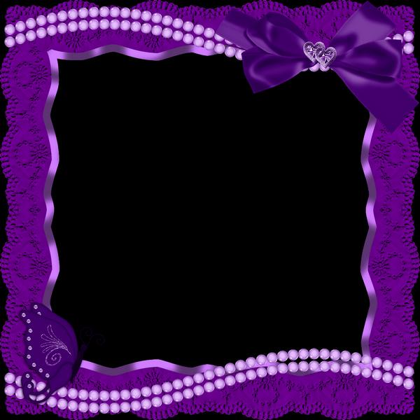 Purple ribbon border clipart royalty free Transparent Purple Frame | Purple Transparent Frame with ... royalty free