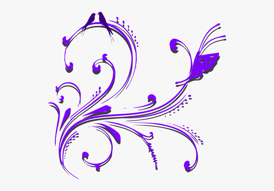 Purple scroll clipart clipart Picture Library Stock Purple Scroll Clipart - Wedding Card ... clipart