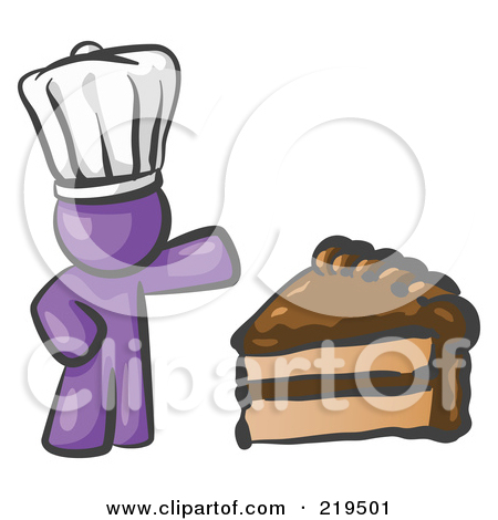 Purple slice cake art clipart clip free stock Clipart Illustration of a Purple Chef Man Wearing A White Hat And ... clip free stock