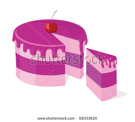 Purple slice cake art clipart image freeuse library Slice Of Cake Stock Vectors, Images & Vector Art | Shutterstock image freeuse library