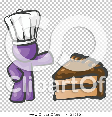 Purple slice cake art clipart image freeuse download Clipart Illustration of a Purple Chef Man Wearing A White Hat And ... image freeuse download