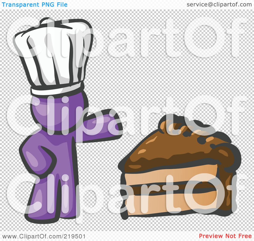 Purple slice cake art clipart image freeuse library Clipart Illustration of a Purple Chef Man Wearing A White Hat And ... image freeuse library