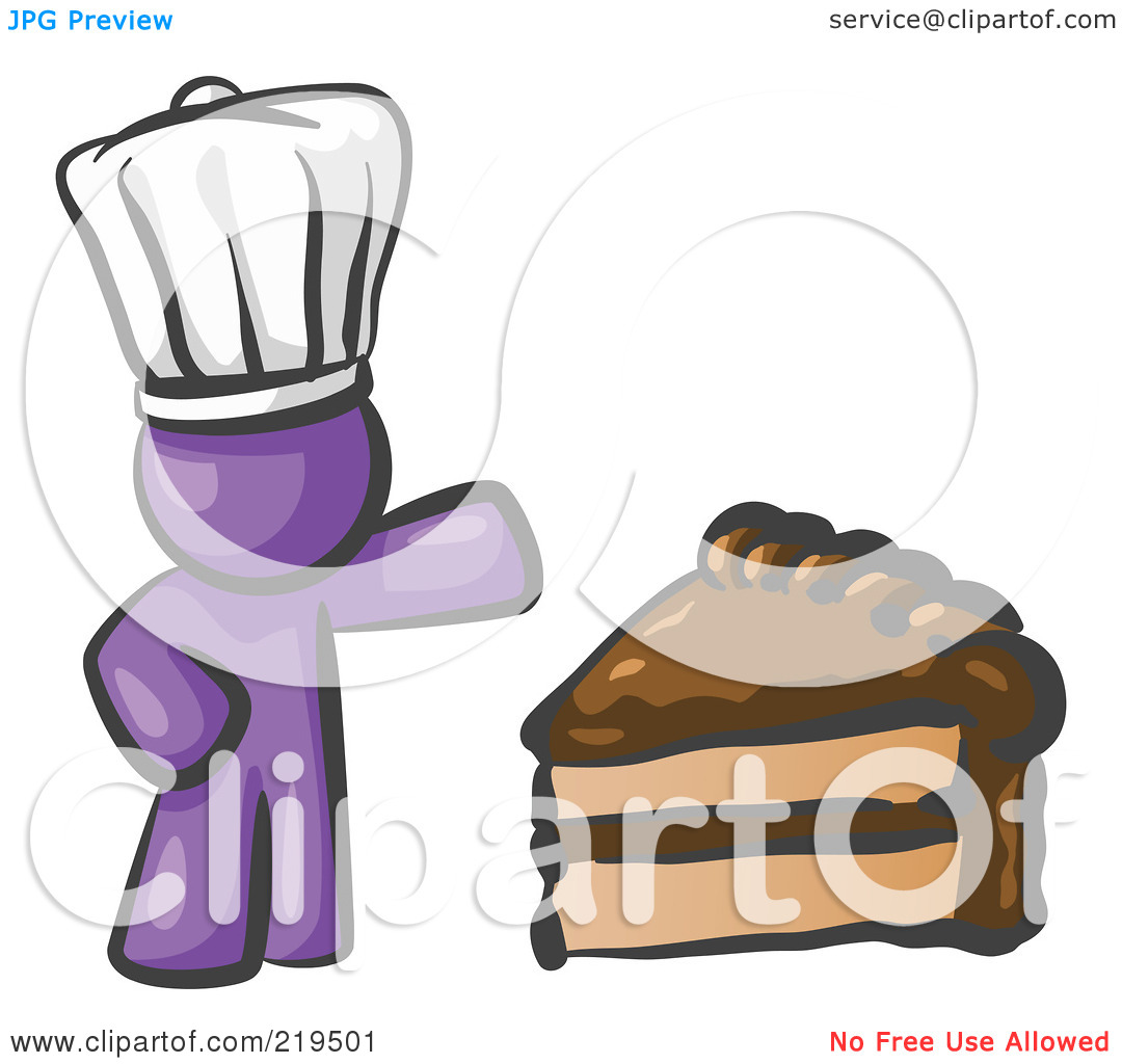 Purple slice cake art clipart vector black and white library Clipart Illustration of a Purple Chef Man Wearing A White Hat And ... vector black and white library