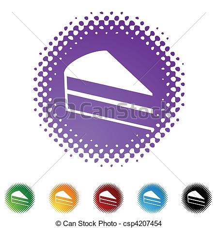 Purple slice cake art clipart clip freeuse Clipart Vector of Cake Slice web button isolated on a background ... clip freeuse
